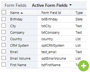 form creator fields