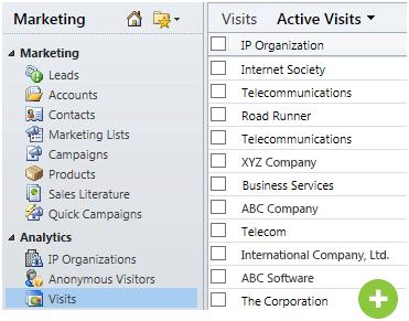 web tracking info